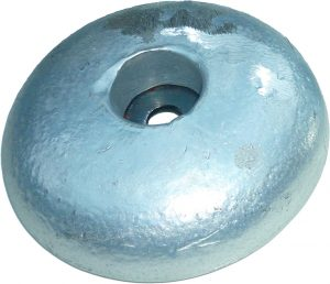 sacrificial hull anode type aluminium disc bolt