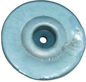 sacrificial hull anode type aluminium disc insert back