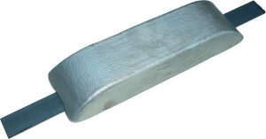 sacrificial hull anodes type large aluminium weld on flat