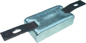 sacrificial hull anode type Zinc weld on square